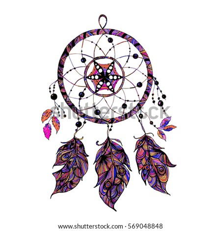 indian dream catcher with beads