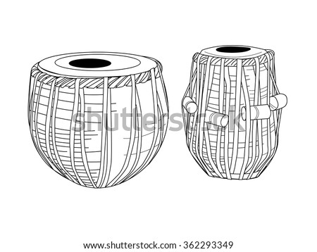 indian drums tabla   isolated...
