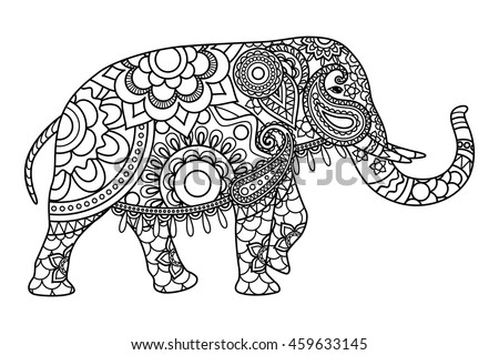 dschool india elephant - Coloring Pages Indian Elephants