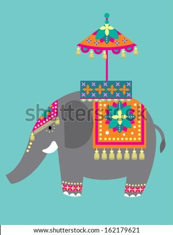 indian elephant festival vector/illustration