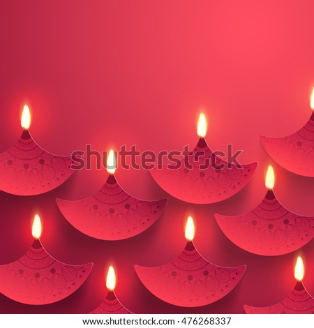 stock-vector-indian-festival-background-with-creative-illuminated-paper-oil-lamps-diya-decoration-elegant