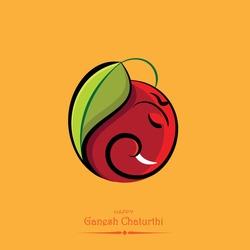 indian festival of ganesh chaturthi eco leaves background