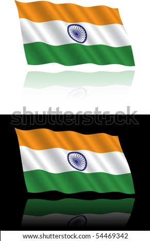 Indian Flag Flowing