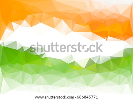 stock-vector-indian-flag-low-poly-background-orange-green-white