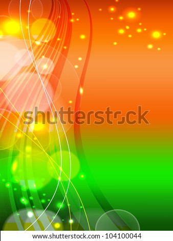 Indian Flag theme background with shiny abstract wave effect for Independence Day, Republic Day and other occasions. EPS 10.