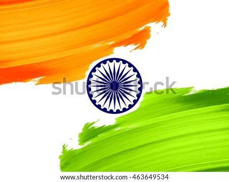 indian flag theme vector