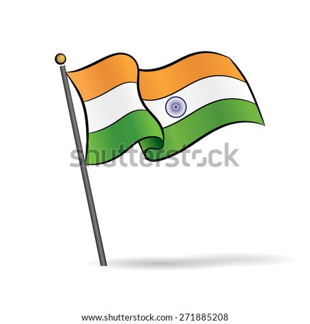 indian flag waving on the wind