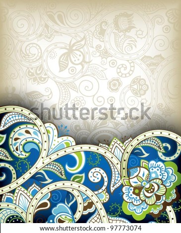 Indian Floral Background