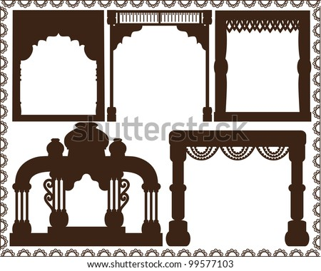 Indian Frames and Altar