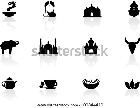 Indian icons - stock vector