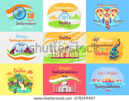 indian independence day emblems