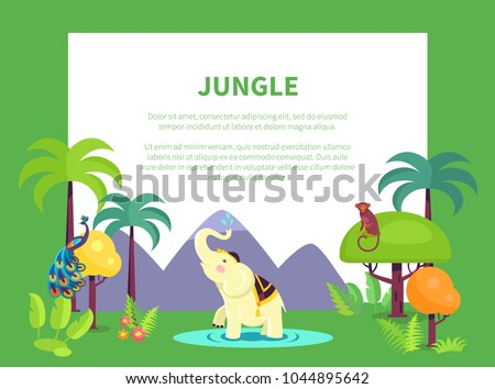 indian jungle banner with place