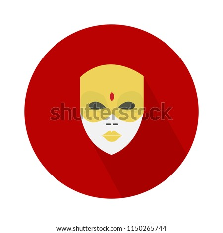 indian mask flat icon. traditional, ethnic or mexican culture sign symbol