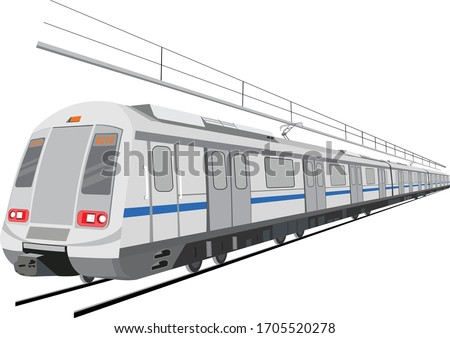 Indian Metro Train illustration concept
