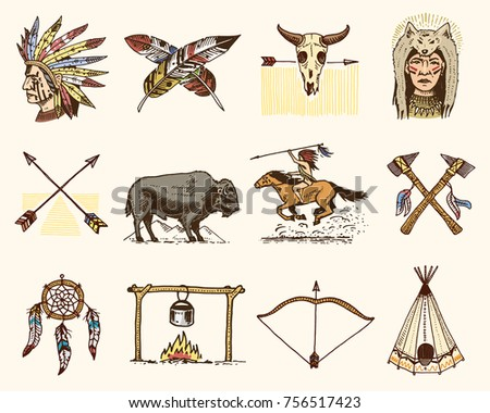 Indian Or Native American Buffalo Axes And Tent Arrows And Bow Awesome Cherokee Indian Dream Catcher