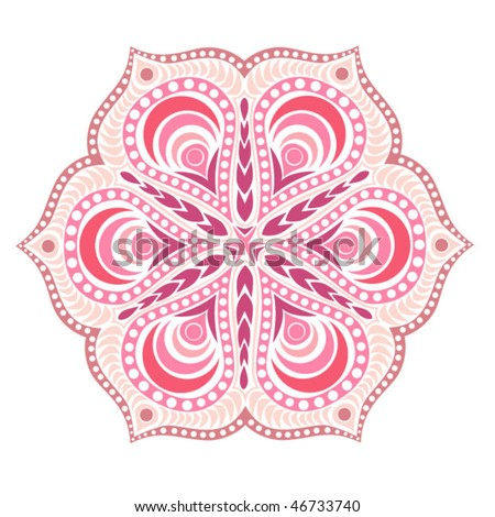 stock vector Indian ornament kaleidoscopic floral pattern mandala