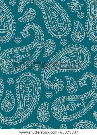 Indian pattern with paisley. Vector illustration.