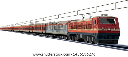 Indian Railway rajdhani express - Vector