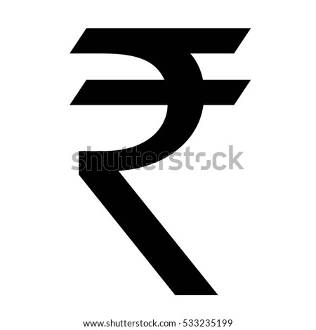 Indian Rupee currency symbol, INR money icon, vector illustration.