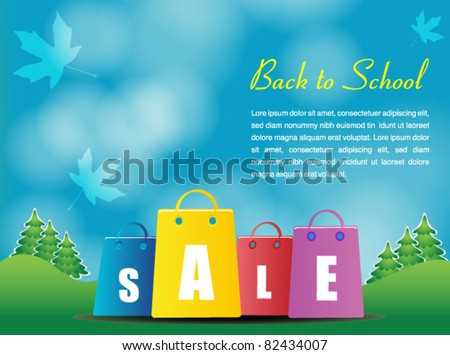 indian summer shopping poster - back to school season