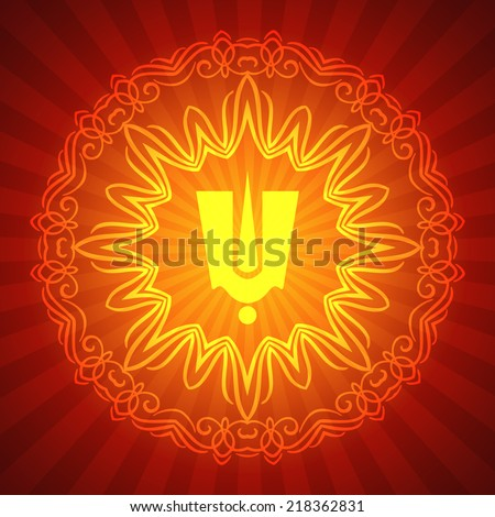 indian tilak sign with