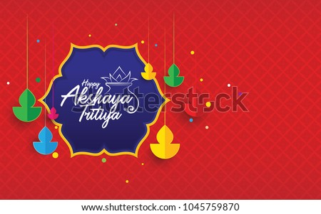 stock-vector-indian-traditional-festival-akshaya-tritiya-background-with-creative-colorful-hanging-lamps