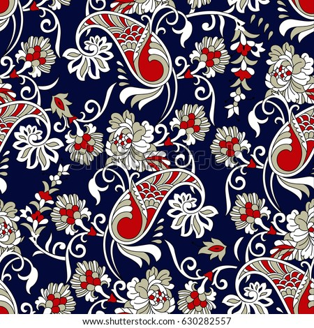 indian traditional paisley pattern