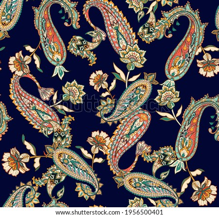 indian traditional pattern, paisley pattern for textiles and decoration