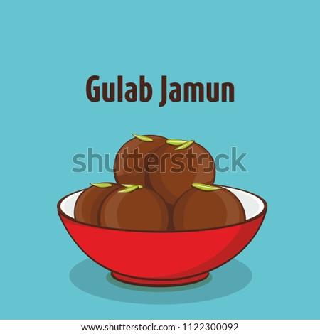 indian traditional sweet gulab jamun