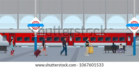 Indian train vector