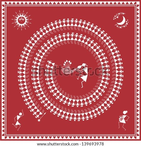 Indian tribal Painting Warli Painting