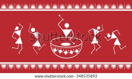 indian tribal painting warli