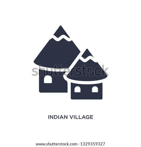 indian village icon simple