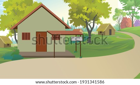 Indian village with house nature backround  Stockfoto ©
