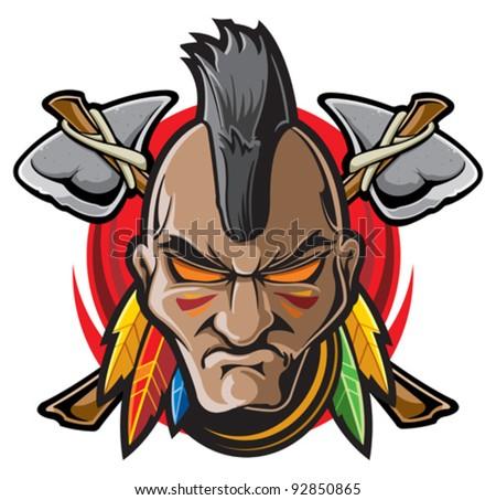 Indian Warrior Stock Vector Illustration 92850865 ...
