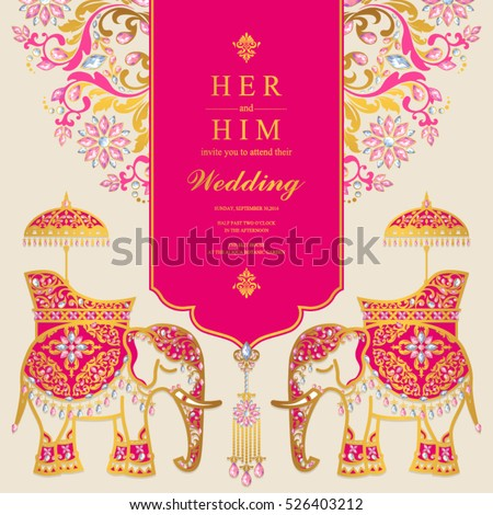 Vector Images Illustrations And Cliparts Indian Wedding Card