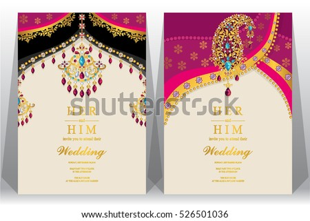 Indian Wedding Card Background - Download Free Vector Art, Stock ...