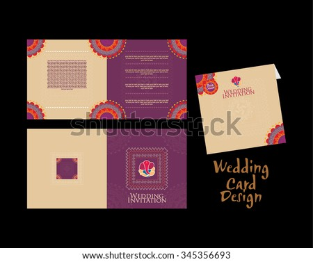 Indian Wedding Card Template Download Free Vector Art – Indian Invitation Card
