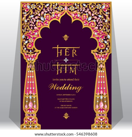 Vector Images Illustrations And Cliparts Indian Wedding Invitation