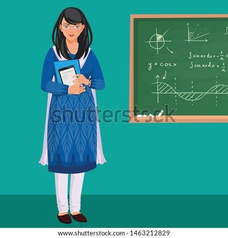 indian woman teacher in front