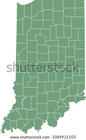 indiana county map vector