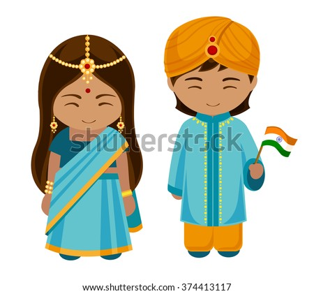 indians in national dress with...