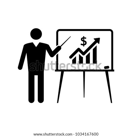 Indicates board investment vector icon