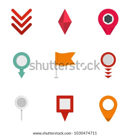 Indication icons set. flat set of 9 indication vector icons for web isolated on white background