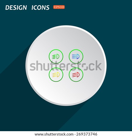 Dipped Beam Symbol >> Royalty-free Circle ribbon design infographic banner… #170820440 Stock Photo | Avopix.com