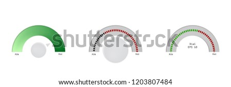 indicator, scale, indicator, set vector measure  illustration meter level design set graphic