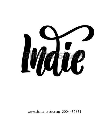 indie music lettering