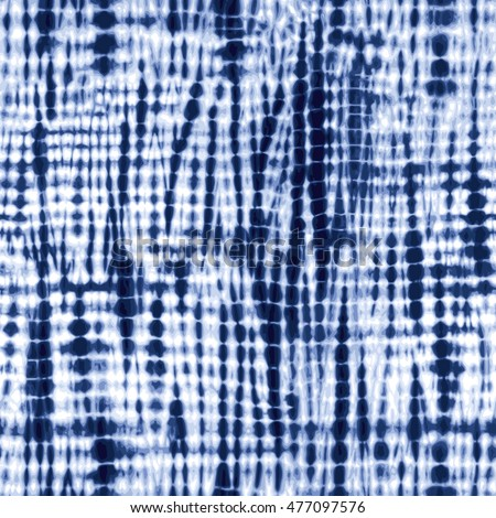 Shutterstock Indigo blue tie-dye textile pattern. Editable vector seamless pattern repeat.