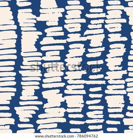 Indigo vector tie dye seamless pattern. Abstract watercolor. Natural tiles. Organic texture.Watercolour print. Japan folk pattern. Organic textile. Japanese seamless natural texture. Indigo batik.