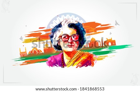 Indira Gandhi, 8th March, Happy women's day with Indira Gandhi, the great woman sign